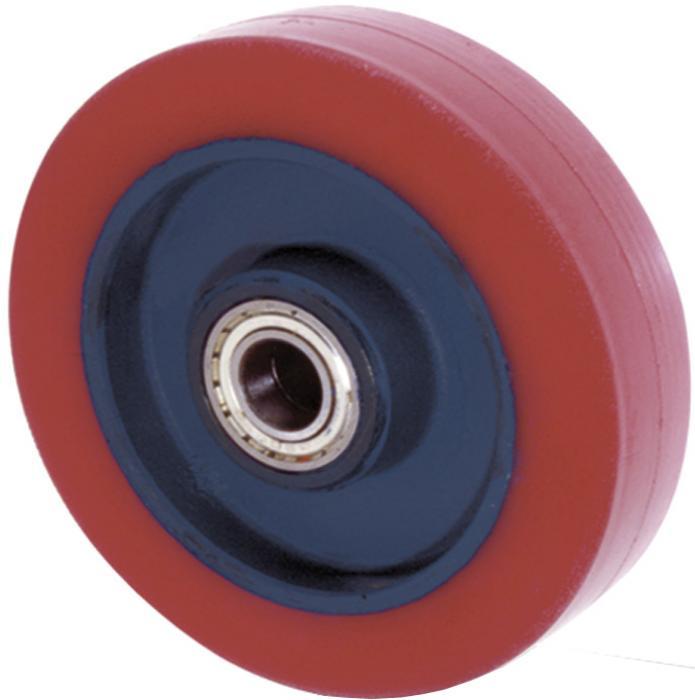 Rotella Girevole Poliuretano Rosso Diametro 200mm Carico 400kg